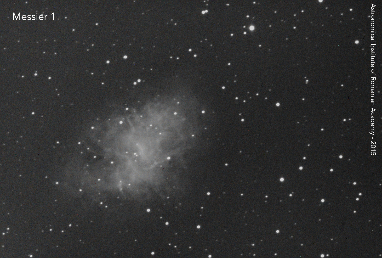 Crab Nebula on octomber, 25th 2016. Cassegrain 0.5 m, f/15